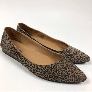 Lucky Brand Shoe Bylando Pointed Toe Flat Cheetah